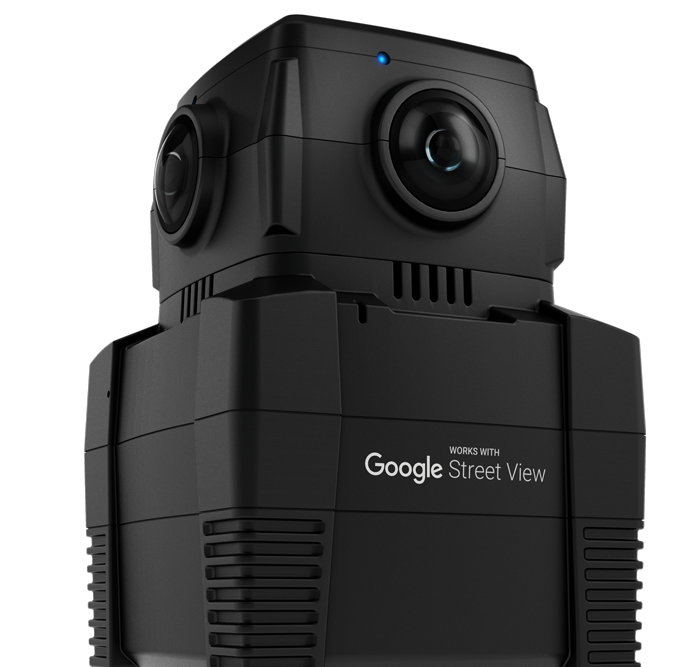 This is the iris360, the only 360 camera built with Google.